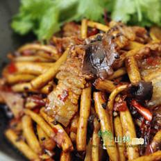 茶树菇炒肉片的做法