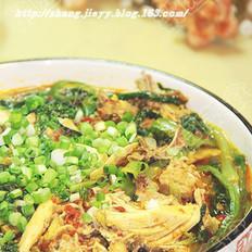 麻辣香水白菜鸡的做法