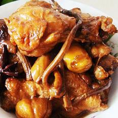 茶树菇栗子鸡翅根
