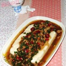 肉末豇豆鹵汁豆腐的做法