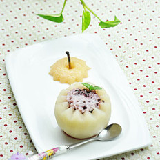 冰糖雪梨米饭盅的做法
