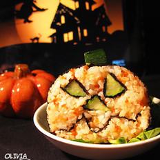 南瓜燈魚子醬壽司的做法