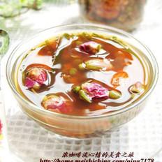 玫瑰杏仁绿豆汤的做法
