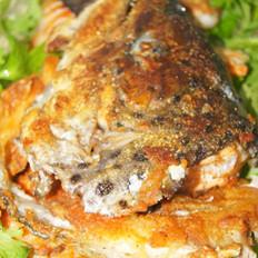 香煎三文鱼头腩的做法