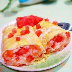 番茄饭卷的做法