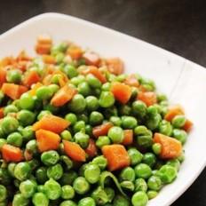 黑椒胡萝卜炒豌豆