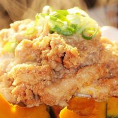 粽香米粉南瓜蒸鸡的做法