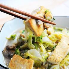 蛤蜊豆腐炖白菜的做法