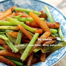 土豆条炒芹菜