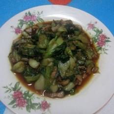 肉丁炒油菜