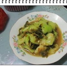 鸡毛菜炒丝瓜