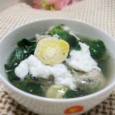 咸蛋鱼丸野苋菜汤的做法