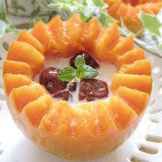 红枣木瓜炖鲜奶的做法