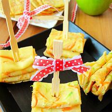 胡萝卜笋瓜蛋饼