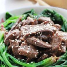 猪肝配菠菜的做法