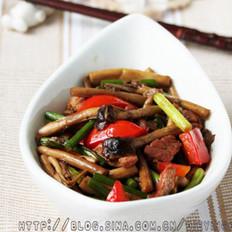 咸肉茶树菇