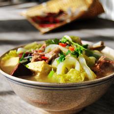 豆腐猪血熬白菜