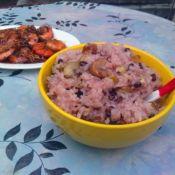 红豆板栗米饭的做法