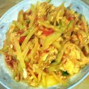 柿子鸡蛋炒土豆丝