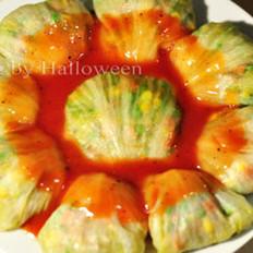 茄汁生菜包的做法