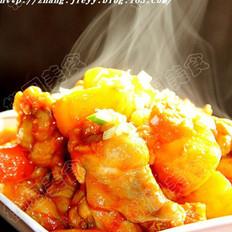 茄汁土豆燒翅根的做法