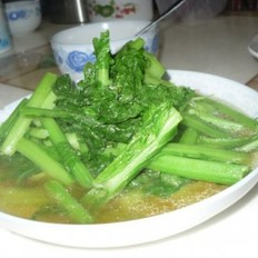 青煮芥菜的做法