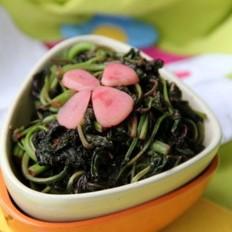 嫩蒜炒苋菜