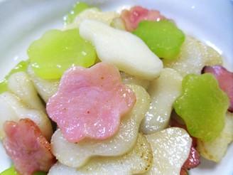 莴苣火腿炒年糕(迷你可爱版)