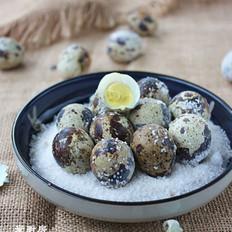 自制鹽焗鵪鶉蛋