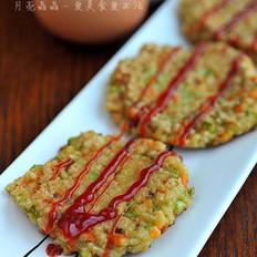 彩蔬燕麦饼