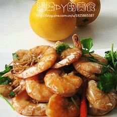 咸香桔皮虾的做法