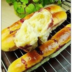 蓝莓果酱长排面包的做法