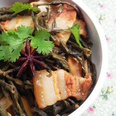 干豆角烧五花肉的做法