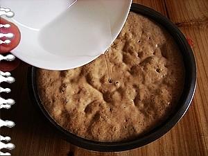 盖上盖子发酵2个小时.   发酵好的样子.   小苏打加一点水搅拌成苏