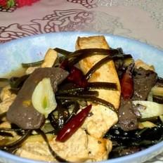 鸭血豆腐炖海带