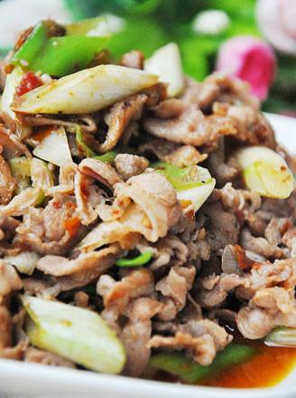 大葱炒羊肉片的做法
