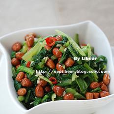 小白菜拌花生米