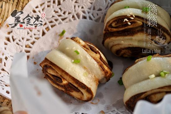 """【麻酱花卷】巧用一只筷子""""卷""""出层层香的麻酱卷"""