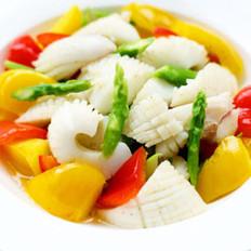 墨鱼卷烩杂蔬的做法