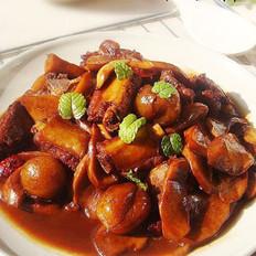 杏鲍菇红烧排骨的做法
