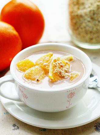 甜橙燕麦牛奶的做法