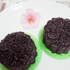 普洱茶香玫瑰紫米糕的做法