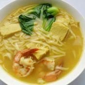 咖喱鲜虾面的做法