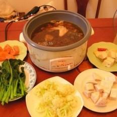 蔬菜芋头火锅的做法