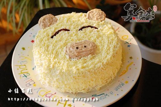 蛋糕图片可爱卡通猪