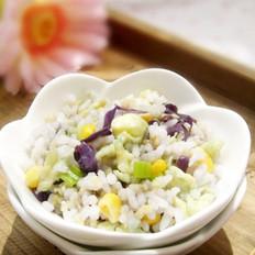 紫甘蓝玉米蛋炒饭