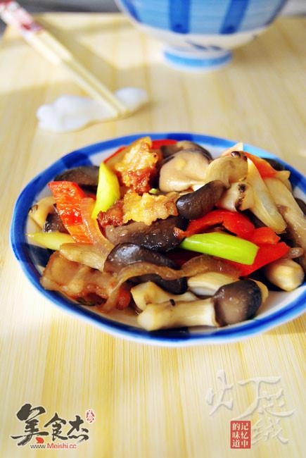 平菇炒肉的做法家常菜典大众2088图片