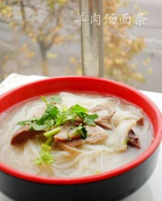 面条汤做法的羊肉猪肉盖红章的能吃吗图片