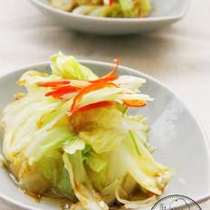 葱油圆白菜的做法