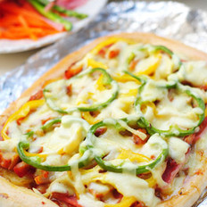 奥尔良烤鸡腿土豆披萨